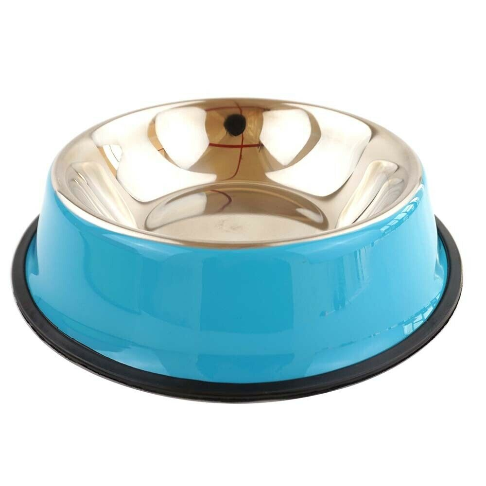 Pets Feeding bowl Anti Skid Stainless Steel Travel Food Water cat dog bowls Dish For Dog