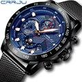 CRRJU Лидирующий бренд мужские спортивные часы из нержавеющей стали мужские армейские часы Мужские кварцевые наручные часы Masculino 2019