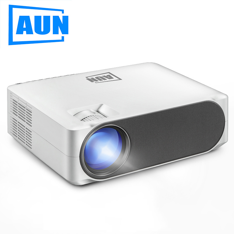 AUN Full HD Projector AKEY6/S, 1920*1080P,Upgrade 6800 Lumens, Multimedia System AC3, LED MINI Projector For 4K 3D Home Cinema.P