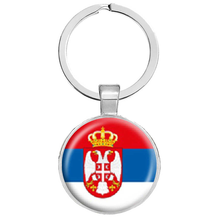 Bendera Nasional Gantungan Kunci Italia Spanyol Portugal Yunani Vatikan Kroasia Andorra La Slovenia Rumania Malta Serbia Gantungan Kunci Perhiasan