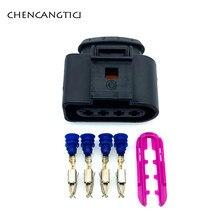 1 conjunto de 4 pinos maneira 3.5mm vw skoda vag conector automotivo 4b0973724 bobina extensão adaptador fio elétrico plug 1j0973724 para audi