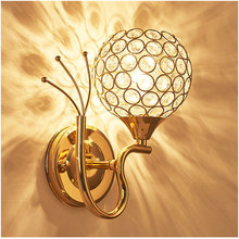 Creative LED Crystal Lamps E27 Circular Wall Lamp Lanterns Of Contemporary Contracted Stair Living Room Lamp Bedroom Light #1 eiceo crystal droplight contemporary contracted lamp bedroom lamps lanterns iron led droplight sitting room led pendant light