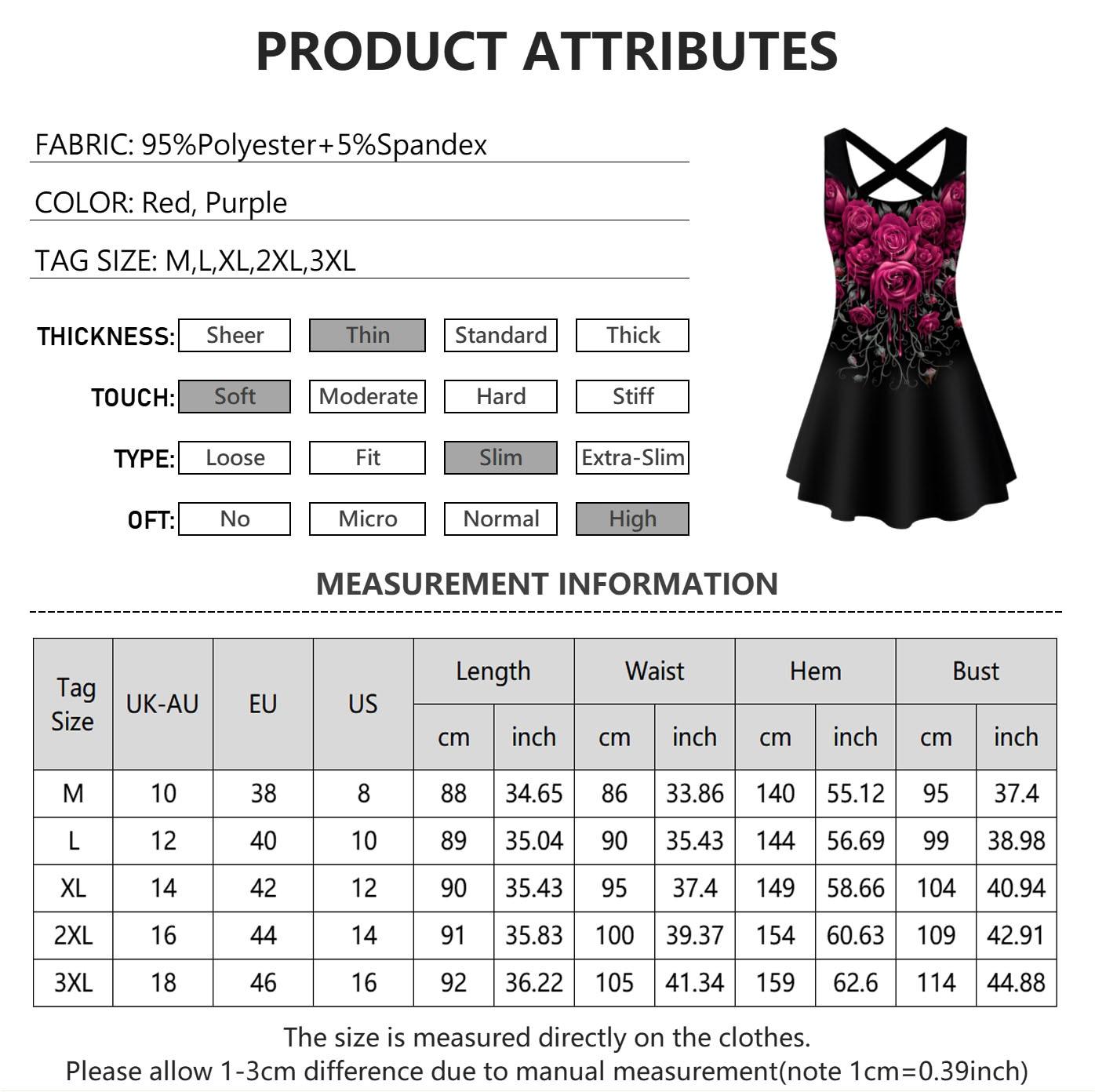Clothing Sleeveless Vest T Shirt Dark Rose Floral  6