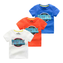 2020 Summer New Kids T Shirt Cotton Children's Short Sleeve T-shirt Boy Letter Football T Shirt For Top Baby T Shirt xmal deutschland shirt goth 4ad sisters of mercy the cure uk siouxsie banshees letter top tee t shirt men short sleeve t shirt