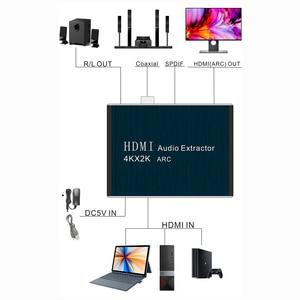 Image 4 - Kebidu hdmi 2.0 오디오 추출기 5.1 arc hdmi 오디오 추출기 분배기 hdmi 오디오 추출기 광학 toslink spdif 스피커