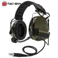 TAC-SKY Comtac III Tactical Headphones Silicone Earmuffs Edition Noise Reduction Airsoft Military Shooting Tactical Headphones