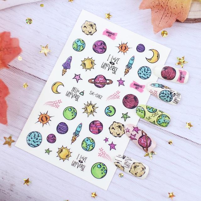 Фото наклейка для детей фрукты луна звездная смола пинтинг 3d украшение цена