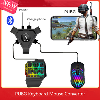 Full Set Gamepad Pubg Mobile Phone Charger Bluetooth 5.0 Android Controller Gaming Keyboard Mouse Converter For IOS iPad to PC
