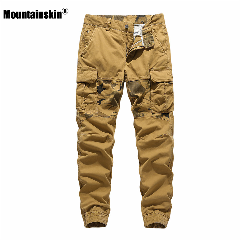 Mountainskin New Men Pants Spring Summer Men's Sports Casual Pants 2020 Fasion Camouflage Patchwork Cargo Trousers Male SA907