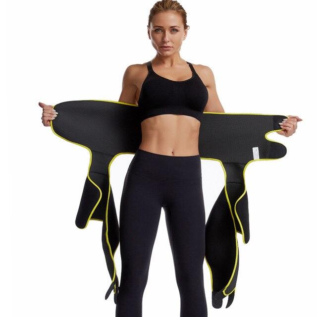 Women High Waist Thigh Trimmer Neoprene Sweat Shapewear Slimming Leg Body Shapers Adjustable Waist Trainer Slimming Belt 3