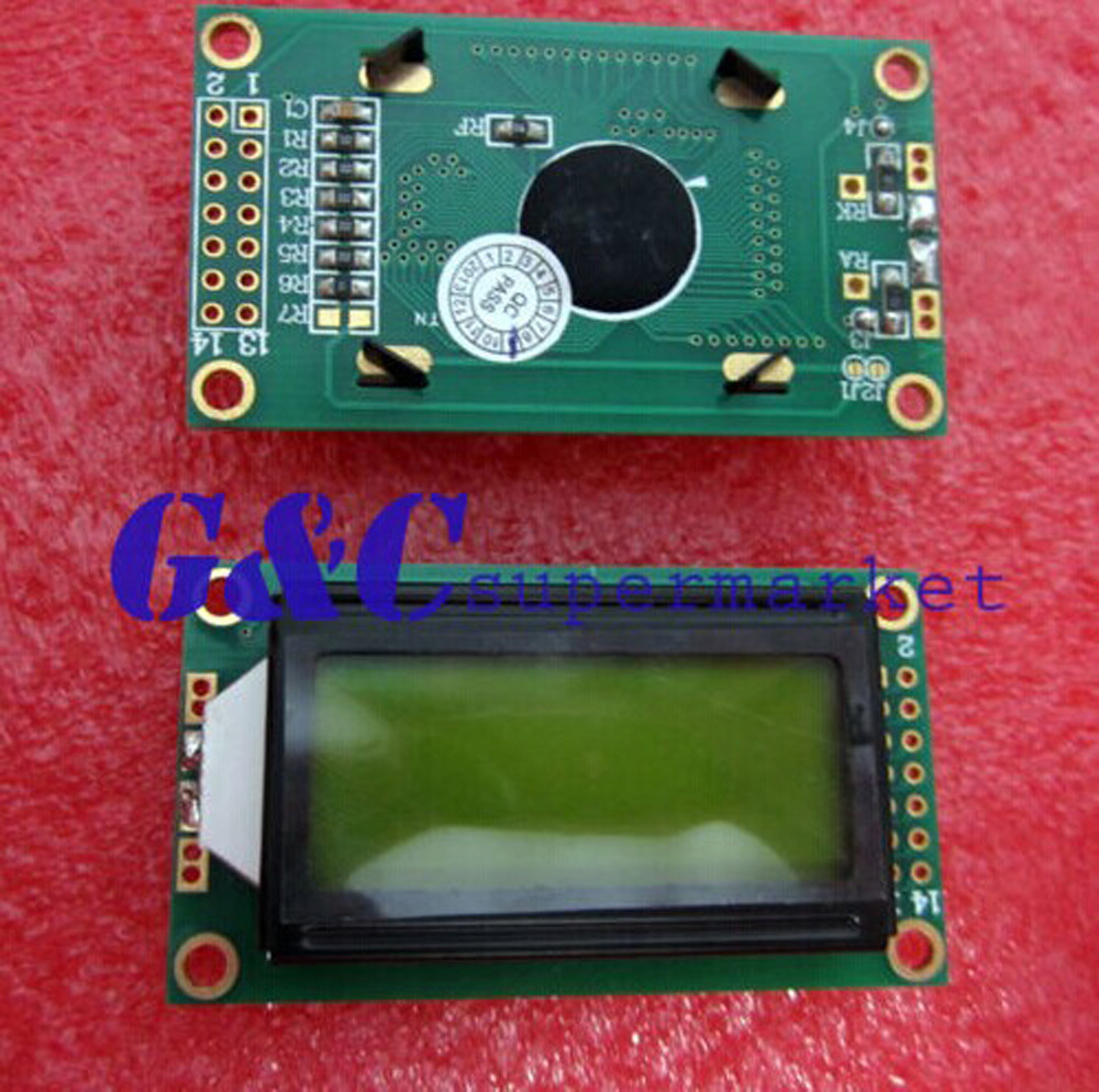 10PCS 0802 8X2 Character LCD Module Yellow Backlight NEW Accessories Electronics Breadboard Compatible Board Diy Electronics