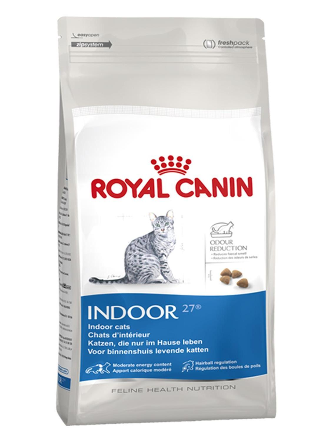 Royal Canin Indoor 27 Cat Food For Cats Always in House Old Cats 2 Kg Healthy Growth Feeding Pet Immunity Flora Support image