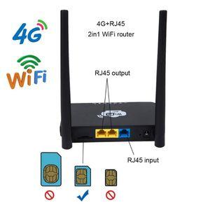 """Image 1 - האיחוד האירופי/ארה""""ב אלחוטי CPE 3G 4G Wifi נתב נייד Gateway FDD LTE WCDMAGlobal נעילה חיצוני אנטנות ה SIM כרטיס חריץ WAN/LAN יציאת"""