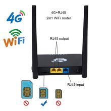 EU/US Wireless CPE 3G 4G WiFi RouterแบบพกพาGATEWAY FDD LTE WCDMAGlobalปลดล็อคเสาอากาศภายนอกSIMการ์ดสล็อตพอร์ตWAN/LAN