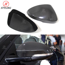 Rear Side View Mirror Cover For Jaguar F-Type Carbon Fiber Mirror Cover caps Add On Style 2013 2014 2015 2016 2017+ carbon fiber side wing mirror covers for porsche panamera 970 2010 2014 2015 2016 add on style rear view mirror cover only lhd