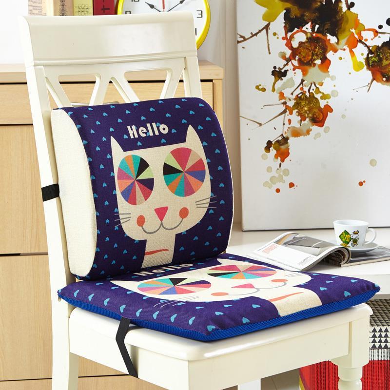 2 pièces/ensemble enfants chambre décoration oreiller coussins dessin animé dos et siège coussins Coussin en mousse à mémoire Coussin pour canapé siège de voiture chaise