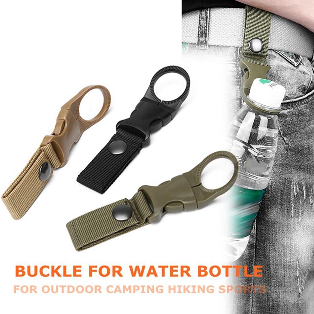 3XOutdoor Camp Water Bottle Holder Clips Hiking Tactical Carabiner Belt Buckles