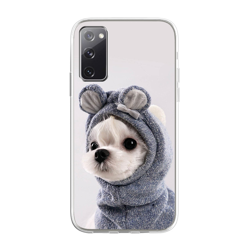 Silicone Phone Case For Samsung S21 Cases Cute Animal TPU Funda For Samsung S21 FE Bumper Coque Samsung S21 S30 Ultra Plus Cover