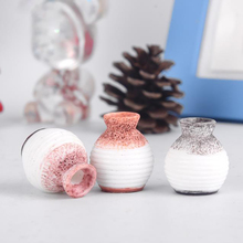 3PCS Resin Mini Vase Crafts Home Garden Decorations Small Cute Miniature DIY Model Ornaments Craft Accessories