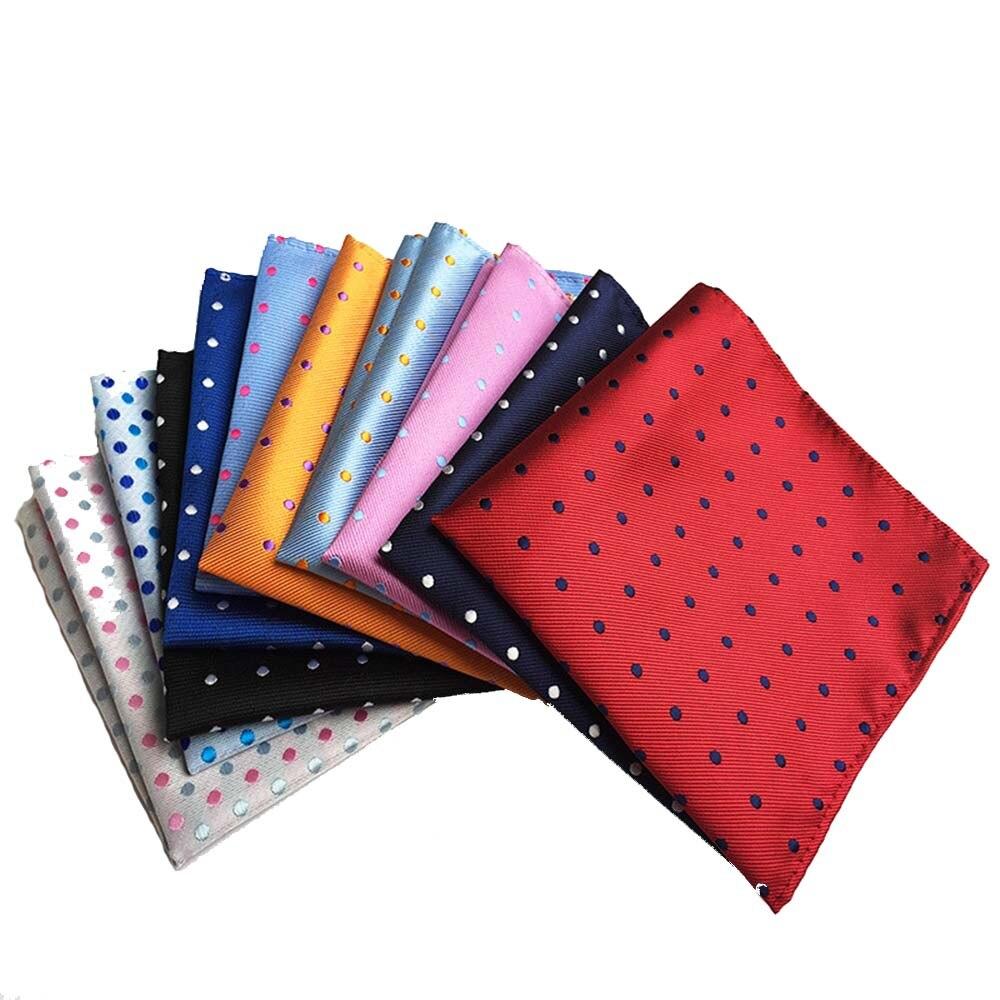 25cm*25cm Men Pocket Squares Dot Pattern Handkerchief Fashion Hanky For Men Business Suit Accessories High Quality