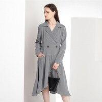 summer 2020 new retro dress women light mature wind irregular Pullover waist dress