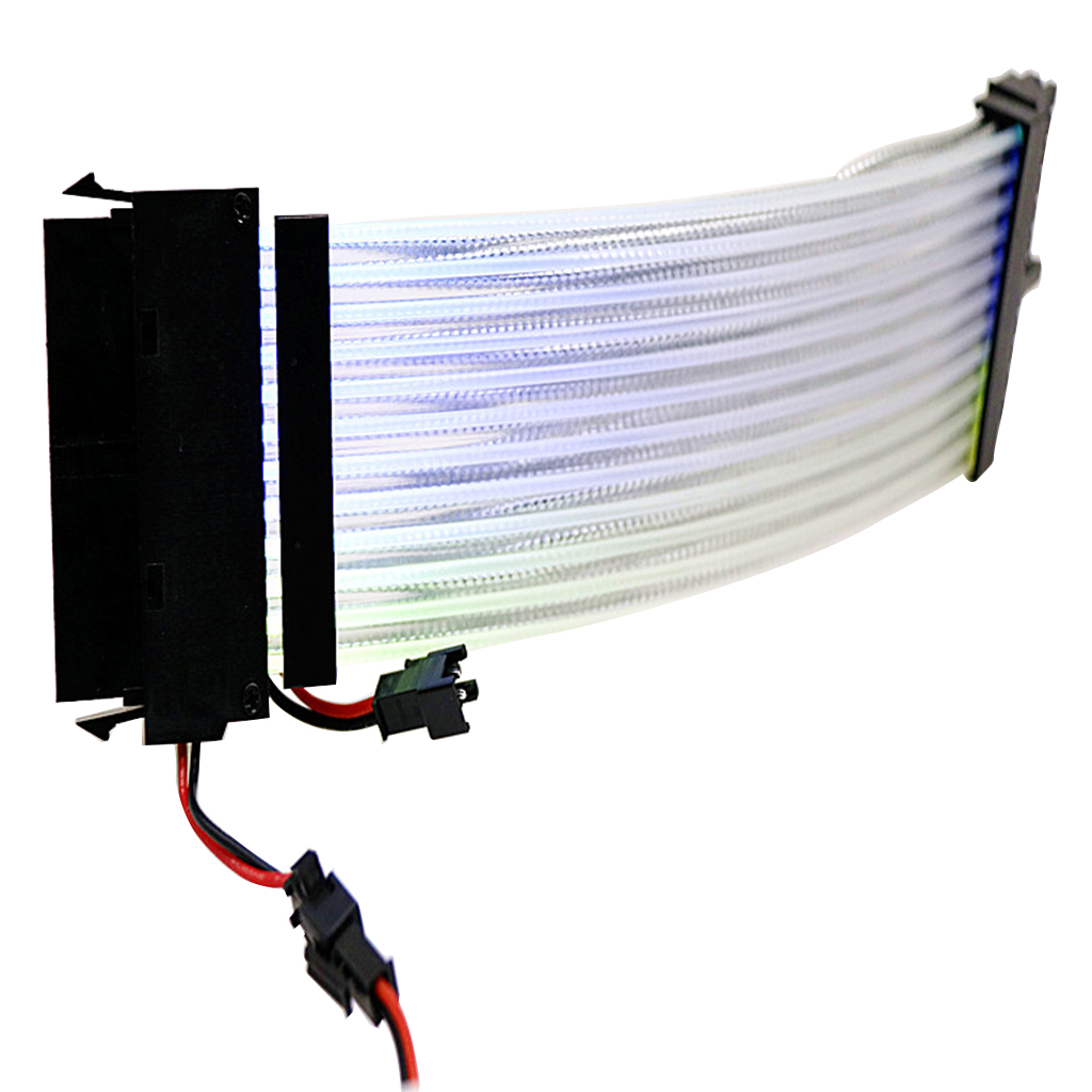 Rainbow RGB Power Extension Cable for 24Pin to Motherboard or 8Pin+8Pin <font><b>GPU</b></font>/Transfer Cable for PC Computer <font><b>Laptop</b></font> Accessories image