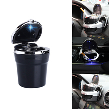 Universal Car Ashtray With Led Lights With Cover Creative Personality Covered multi-function Car Supplies
