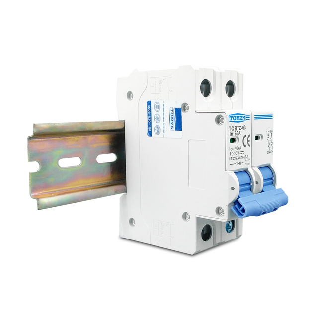Disjoncteur solaire   Mini disjoncteur 2P DC 1000V 3A 6A 10A 16A 20A 25A 32A 40A 50A 63A DC MCB pour système PV