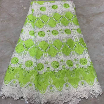 New design African Lace Fabric Embroidered Stones Nigerian Laces Fabric High Quality French Milk Tulle Lace Fabric For Women