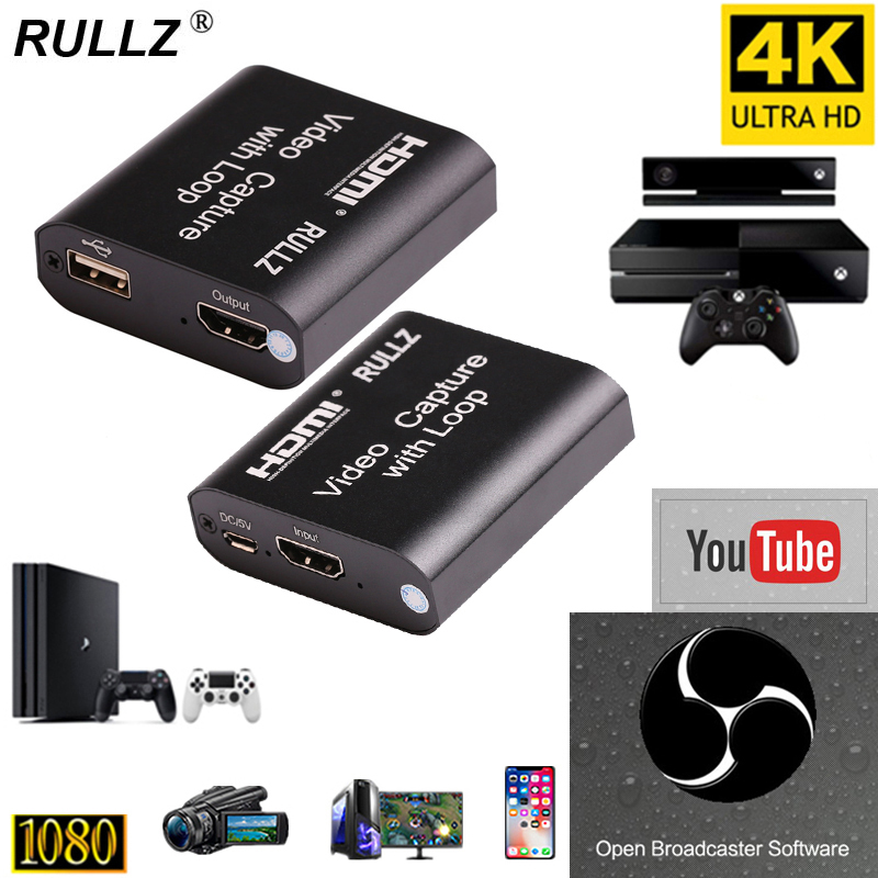 Video-Capture-Device Card-Dongle Game-Record Broadcast Live-Streaming HDMI To 1080P 4K