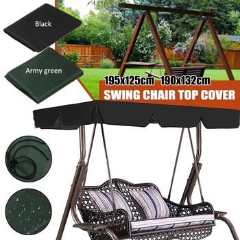Useful Garden Seat Covers Outdoor Swing 3-Seat Chair Waterproof Cushion Replacement For Patio Garden Yard Garden Furniture Cloth image