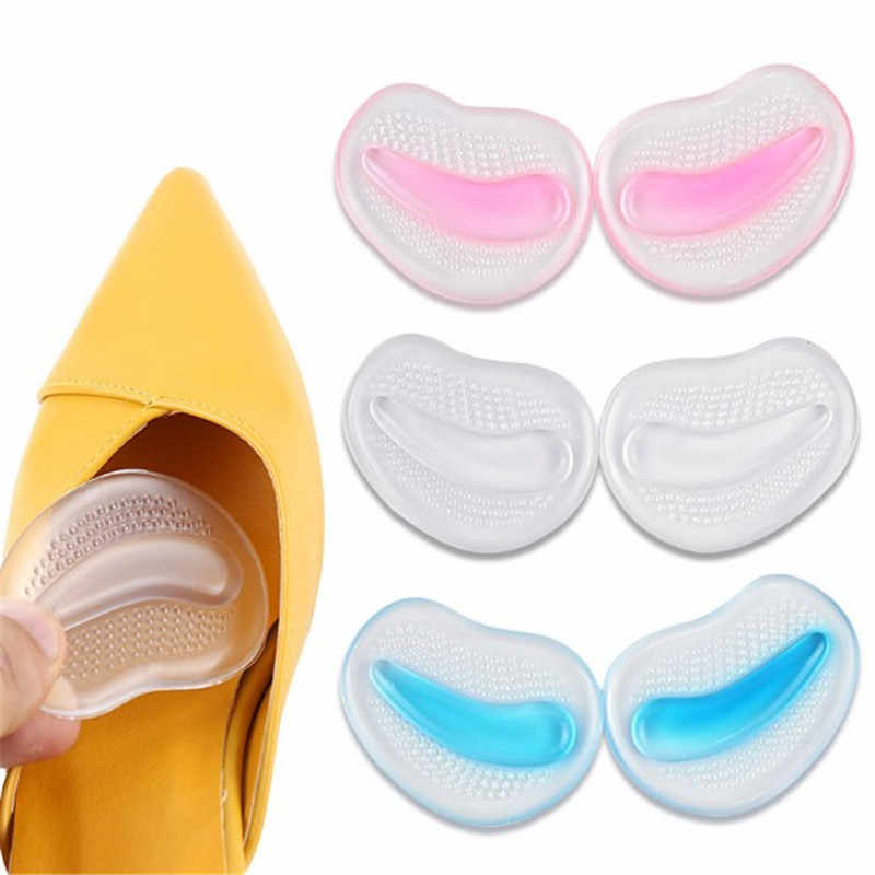 1 Pair Women Gel Silicone Forefoot Pads Shoes Insoles Inserts Anti-Slip Pain Relief Comfortable High Heels Accessories