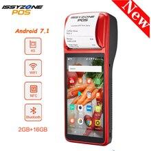 Issyzonepos Terminal de tickets, Android 7.1, Bluetooth, collecteur de données, lecteur de codes à barres, portable, WiFi 4G, 58mm