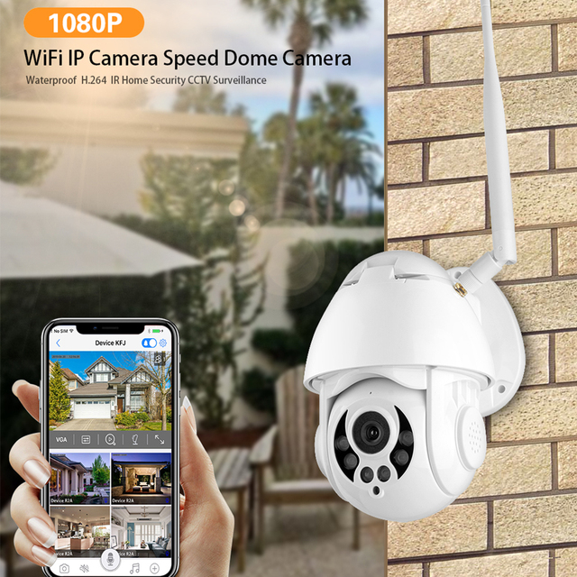 4k WiFi IP Camera Auto Tracking 4x Waterproof Outdoor Security Camera
