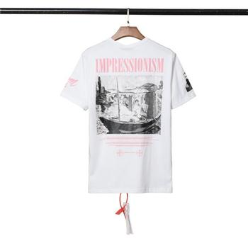 Europe And America Fashion off Ow White 19ss99 New Style Religious Figure Printed Men And Women Short Sleeve T-shirt Modify
