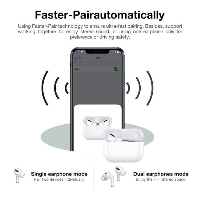 Airpodding Pro 3 Bluetooth Earphone TWS Wireless Headphones HiFi Music Earbuds Sports Gaming Headset For IOS Android Phone 2