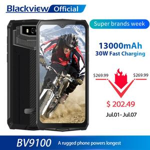 Blackview BV9100 IP68 Waterproof Cellphone 13000mAH 30W fast charging 4G Mobile Phone MTK6765 4GB+64GB 16.0MP Rugged Smartphone(China)