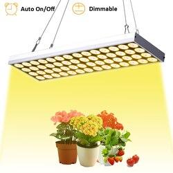JCBritw oświetlenie LED do uprawy możliwość przyciemniania Auto On/Off Timer lampy do uprawy roślin na rośliny doniczkowe 60W Full Spectrum White 3500K wiszące