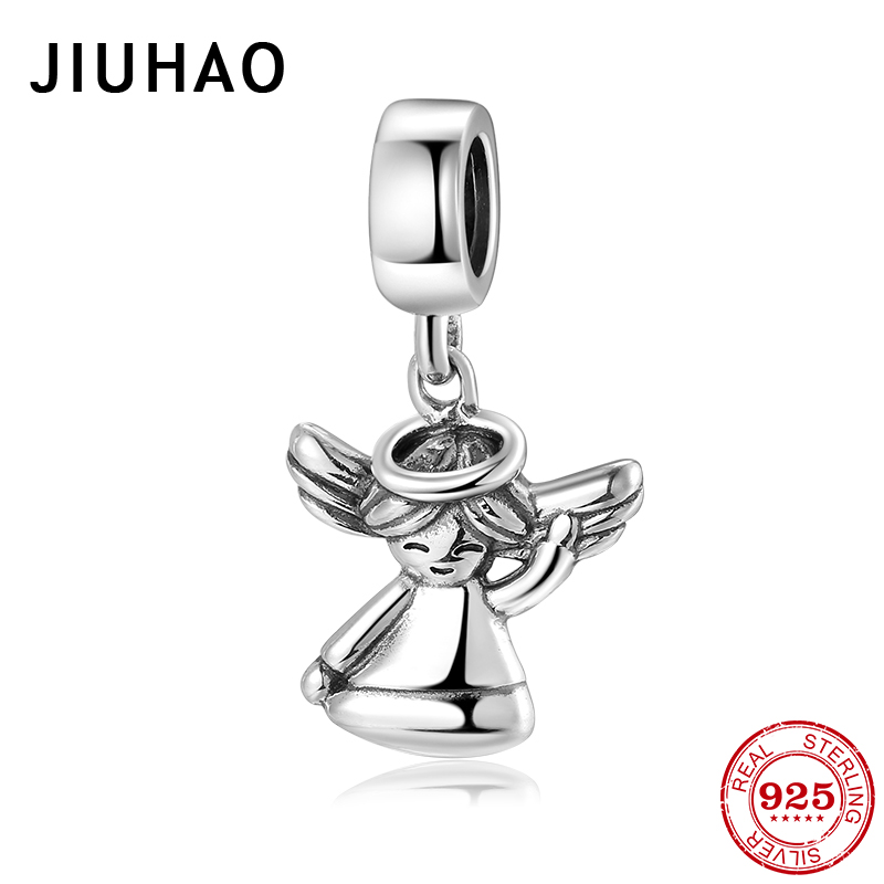 Top Quality 925 Sterling Silver Lovely Angel Baby Pendants For Jewelry Making Fits Original Pandora Charm Bracelets DIY Gifts