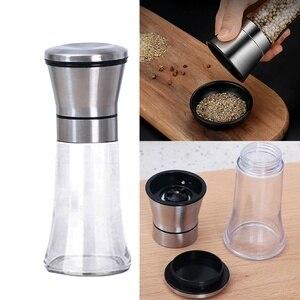 Stainless Steel ABS Salt Grinder Pepper Shaker with Adjustable Coarseness Pepper Mill 120ML