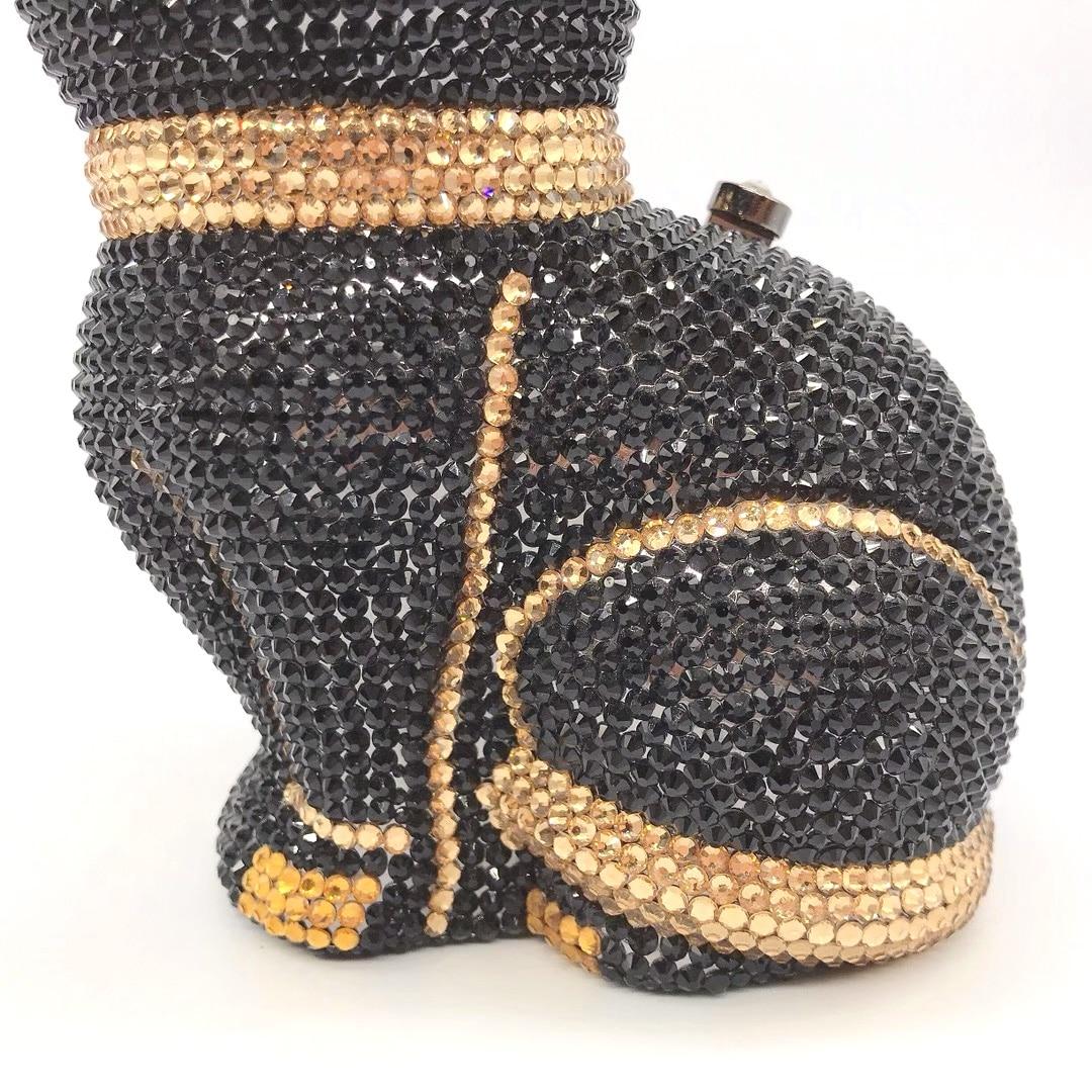Bag For Women Mini Cat Shape Women Crystal Clutch Evening Bags Hand-Made Diamond Minaudiere Handbag Party Wedding Purse-BeeInFly