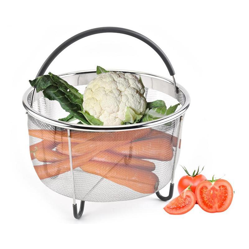 Rice Cooker Steamer Steam Basket 304 Stainless Steel Steamer With Silicone Handle Kitchen Colander Steamer Hot