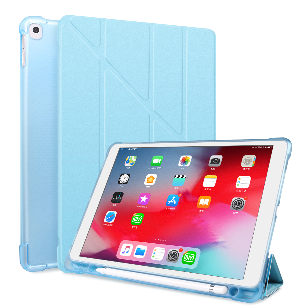 Blue Blue For iPad 10 2 2020 2019 Case A2197 A2270 PU Leather Silicone Smart Cover For iPad