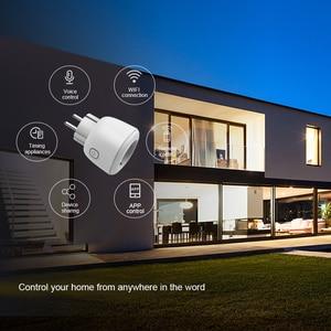 Image 2 - TOPESEL WiFi Thông Minh Cắm EU, Bộ Chuyển Đổi Không Dây Từ Xa Điều Khiển Giọng Nói Năng Lượng Tiết Kiệm Ổ Cắm Hẹn Giờ Cho Alexa Google Home