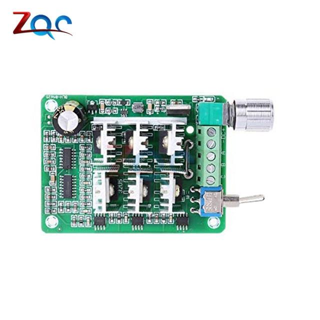 Controlador de velocidad del Motor sin escobillas sin sensor trifásico 15A BLDC ventilador explosivo DC 5-36V 12V 24V con interruptor de potenciómetro