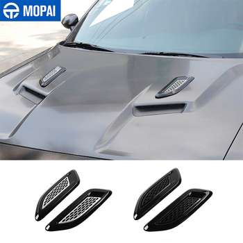 MOPAI Car Front Hood Air Vent Cover Decor Stickers Exterior Accessories for Dodge Challenger for Dodge Charger for Dodge RAM 1