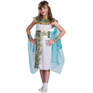 Image 1 - Kids Blue Cleopatra Child Halloween Cosplay  Costume Back In The Egyptian As The Famous Queen Historical Plays Role Play