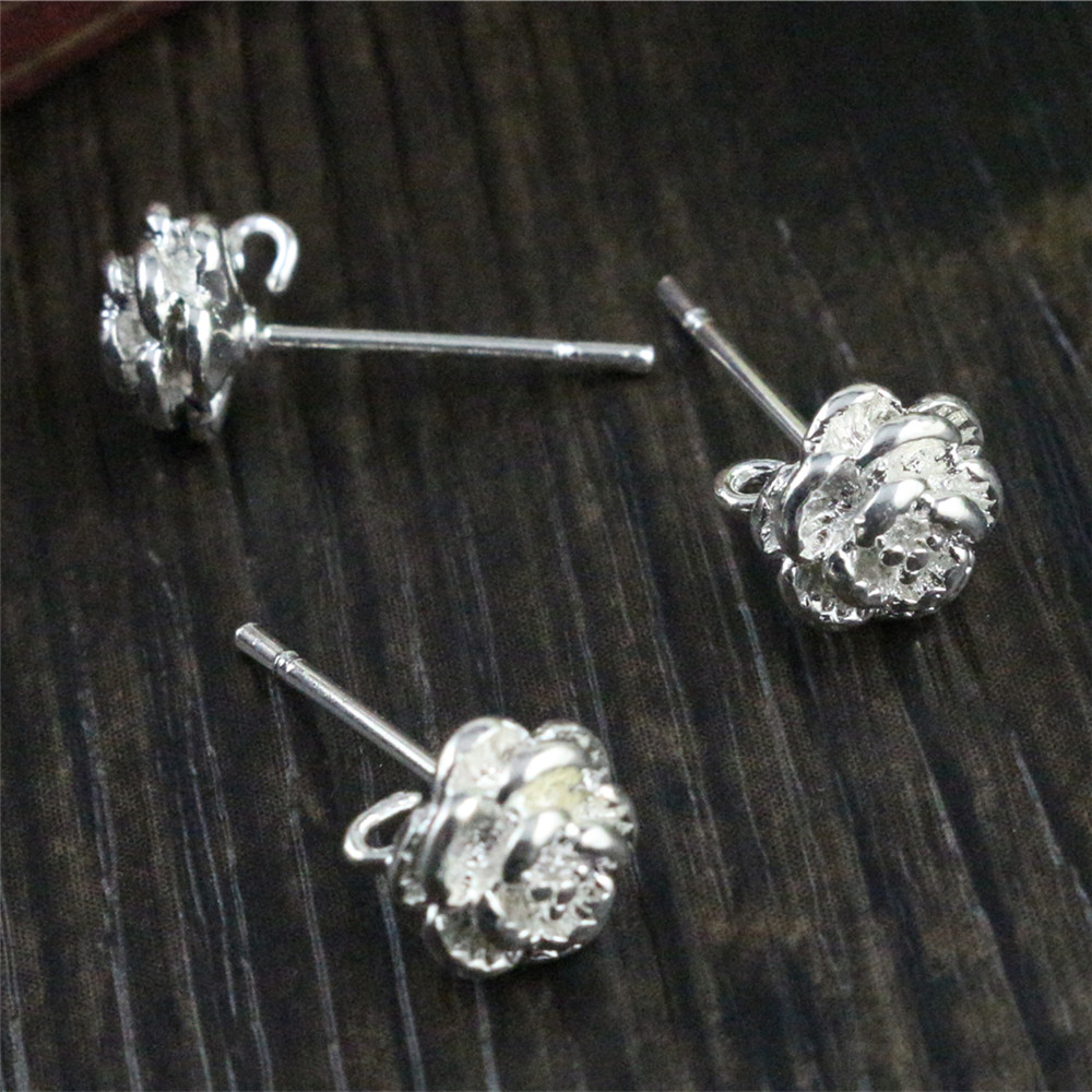 6pcs ( 3pair) 9*6mm Bright Silver Plated Ear Hooks Earring Wires For Handmade Women Fashion Jewelry Earrings (T6-05)