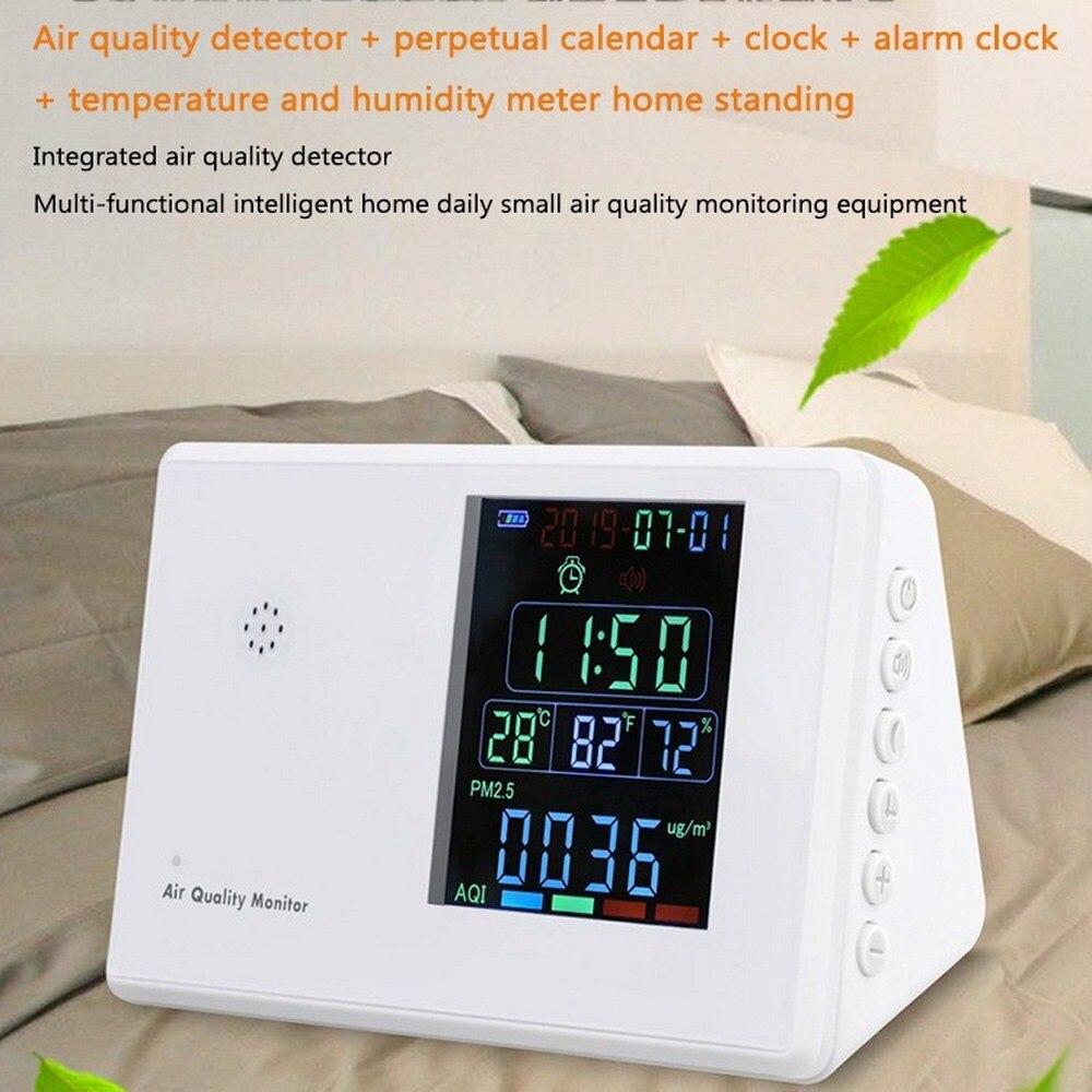 Air Quality Monitor CO2 Sensor Digital Formaldehyde Detector HCHO TVOC PM2.5 PM10 Temp Humi AQI Tester Laser Sensor Gas Analyzer
