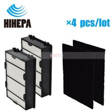 2 True HEPA Filter and 2 Pre Carbon Filters Replacements Compatible with Holmes HAPF600 HAPF600D HAPF600D U2 Filter B